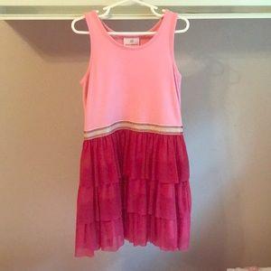 Hanna Andersson Girls pink dress